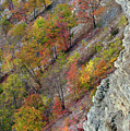 Letchworth Falls State Park Fall Colors by Dean Hueber