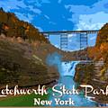Letchworth State Park Vintage Travel Poster by Rick Berk