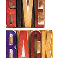 Leterpress Wood Blocks Spelling Give Back by Donald Erickson