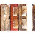 Leterpress Wood Blocks Spelling Life Free Or Die by Donald Erickson