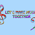 Let's Make Music - Blue by Gill Billington