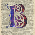 Letter B Monogram by Anna W