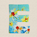 Letter E - Roman Alphabet - A Floral Expression, Typography Art by Patricia Awapara