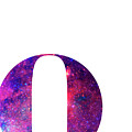 Letter O Galaxy In White Background by Pablo Romero