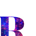 Letter R Galaxy In White Background by Pablo Romero
