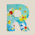 Letter R Roman Alphabet - A Floral Expression, Typography Art by Patricia Awapara