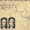 Lewis And Clark Expedition Map by Charles Robinson