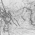 Lewis And Clark Hand-drawn Map Of The Unknown 1804 by Lewis And Clark