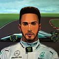 Lewis Hamilton Painting by Paul Meijering