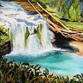 Lewis River Falls by Karen Stark