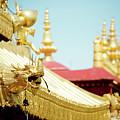 Lhasa Jokhang Temple Fragment Tibet by Raimond Klavins