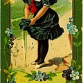 Libbys Bookmark Vintage With Girl On Beach by R Muirhead Art