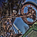 Liberty Ambassador Copper Motorcycle Statue Of Liberty Ny by Chuck Kuhn