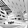 Library Interior 3 Zaha Hadid Wu Campus Vienna  by Menega Sabidussi