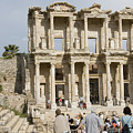 Library Ruins At Ephesus Turkey by Charles  Ridgway