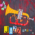 License Plate Art Jazz Series Number One Trumpet by Design Turnpike