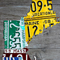 License Plate Map Of New England States by Design Turnpike