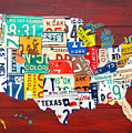 License Plate Map of The United States - Midsize by Design Turnpike