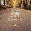 Life Begins At The End Of Your Comfort Zone by Edward Fielding