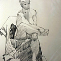 Life Drawing No. 025 by Betty Jean Billups