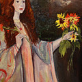 Life Is Fragile Handle With Flowers by Nila Jane Autry