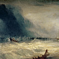 Lifeboat And Manby Apparatus Going Off To A Stranded Vessel Making Signal Of Distress by Joseph Mallord William Turner