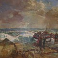 Lifeboat Launch by G Chalker     C1960
