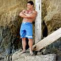 Lifeguard At El Matador by Thomas Mitchell