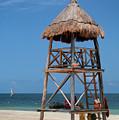 Lifeguard Chair - Riviera Maya Mexico by Frank Mari