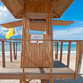 Lifeguard Hut On The Beach by George Oze