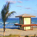 Lifeguard Shack - Rdw0006688 by Dean Wittle