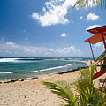 Lifeguard Station On The Beach Poipu Beach Kauai Hawaii by George Oze