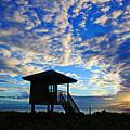 Lifeguard Station Sunrise by Lawrence S Richardson Jr