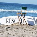 Lifeguard Surfboard Rescue Station  by Anthony Murphy