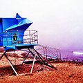 Lifeguard Tower At California Beach by Bryan Mullennix