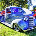 Light Blue Pickup  by Jackie Eatinger