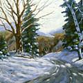 Light Breaks Through The Pines by Richard T Pranke