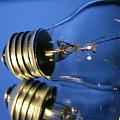 Light Bulb - Blue by Douglas Milligan