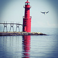 Red Lighthouse by Dale Adams