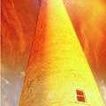 Light House At Sunset, Cape May, Nj by A Gurmankin