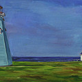 Light House, White House by Christine Montague