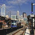 Light Rail In Charlotte by Jill Lang