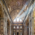 Light Rays In St Peter's, Rome by Michael Evans