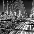 Light Trails Of Manhattan by Az Jackson