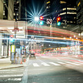 Light Trails On 17th And Market by Richard Dorr