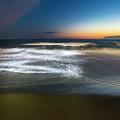 Light Waves At Sunset - Onde Di Luce Al Tramonto II by Enrico Pelos