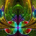 Lighted Flower Fractal by Garland Johnson