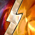Lightening Bolt Abstract Posterized by Linda Brody