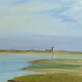 Lighthouse Across The Ptown Moors by Phyllis Tarlow