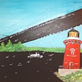 Lighthouse And Bridge by Donald Northup